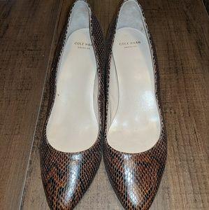 Snakeskin Design Cole Haan Wedge Heels